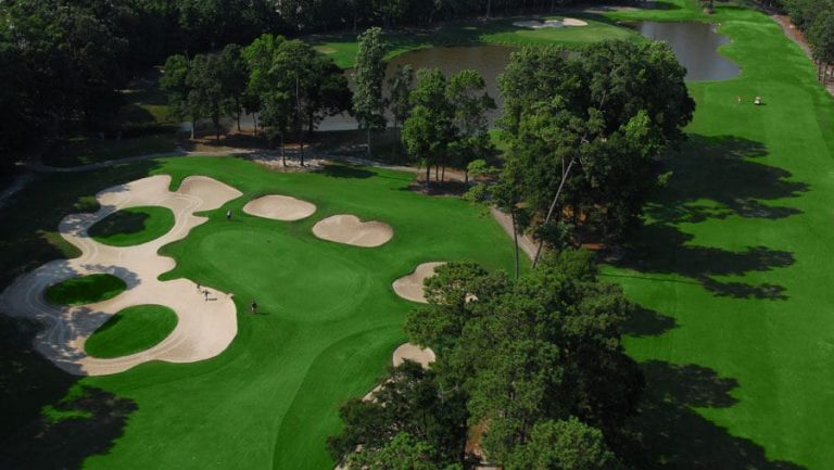 golf course overhead bunkers
